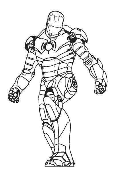 Hình tô màu Iron Man đẹp nhất cho bé tập tô (6)