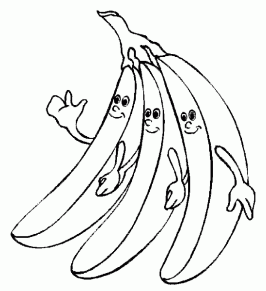 Hình tô màu quả chuối cho bé tập tô (1)