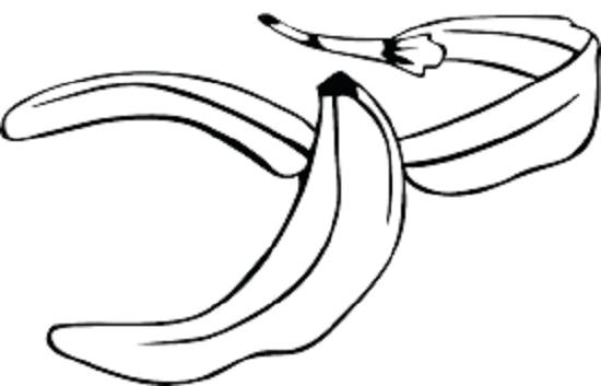Hình tô màu quả chuối cho bé tập tô (3)