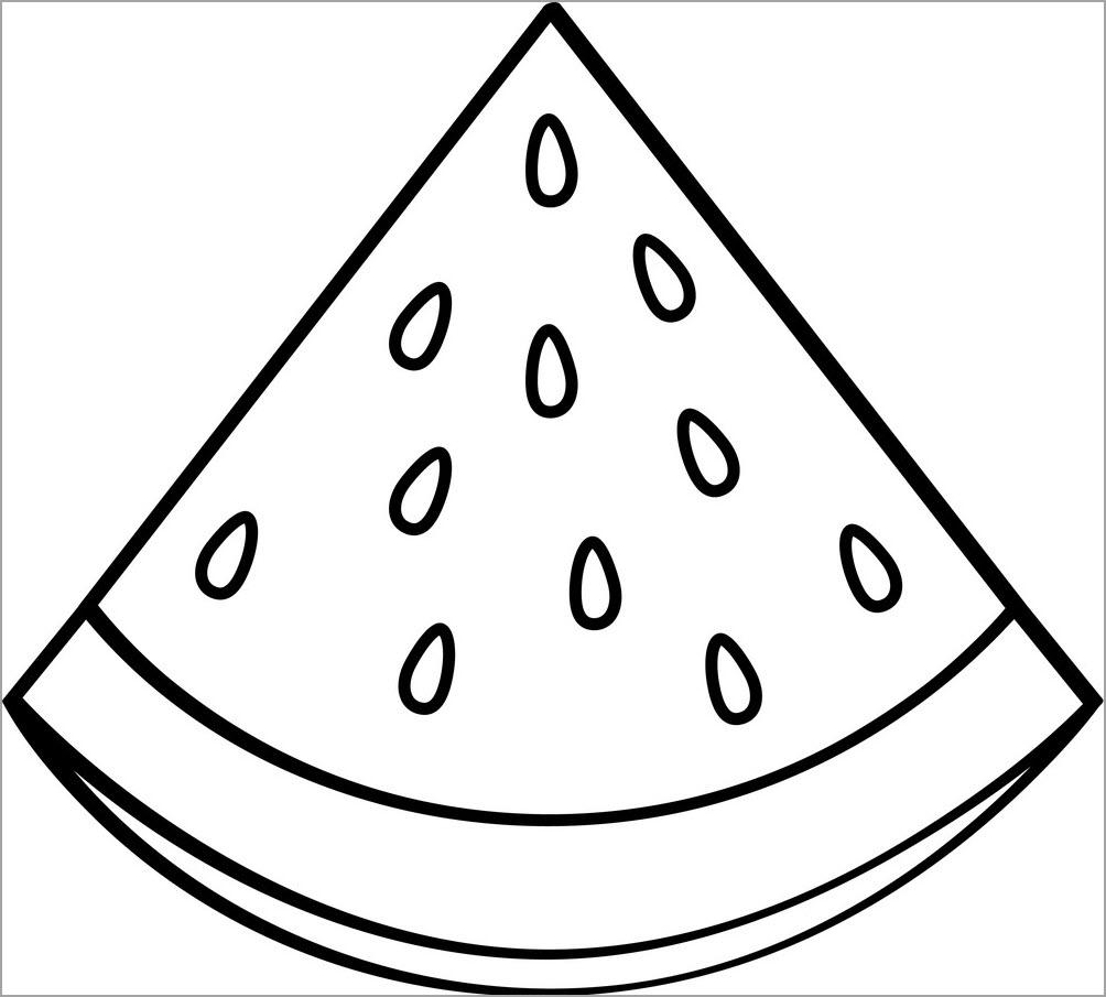 28+ Tranh tô màu quả dưa hấu đơn giản, đẹp nhất cho bé tập tô