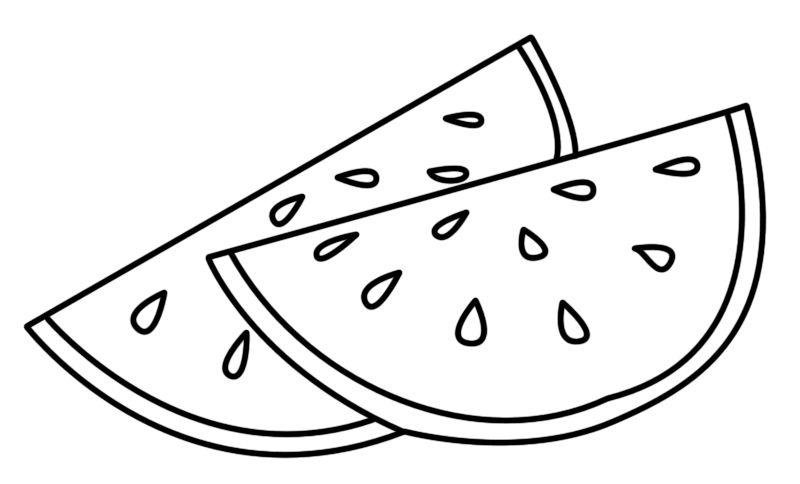 Hình tô màu quả dưa hấu cho bé tập tô (6)
