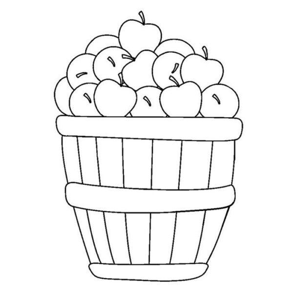 Hình tô màu quả táo đẹp nhất cho bé tập tô (2)