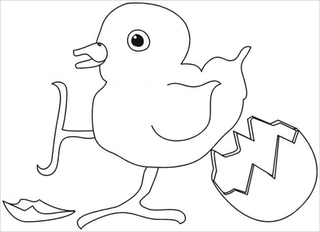 Hình tô màu quả trứng đơn giản cho bé tập tô (13)