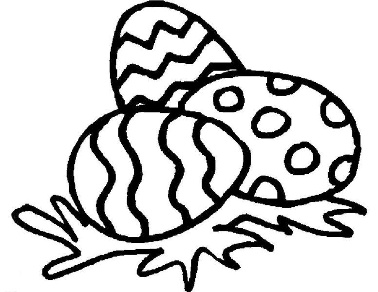 Hình tô màu quả trứng đơn giản cho bé tập tô (14)
