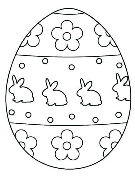 Hình tô màu quả trứng đơn giản cho bé tập tô (16)