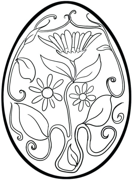 Hình tô màu quả trứng đơn giản cho bé tập tô (18)