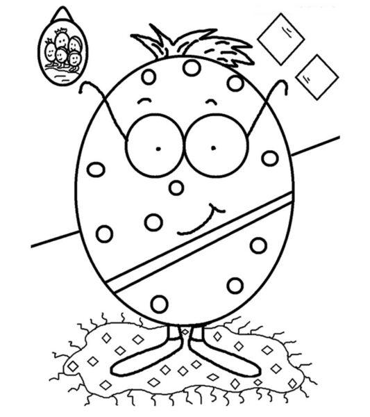 Hình tô màu quả trứng đơn giản cho bé tập tô (19)