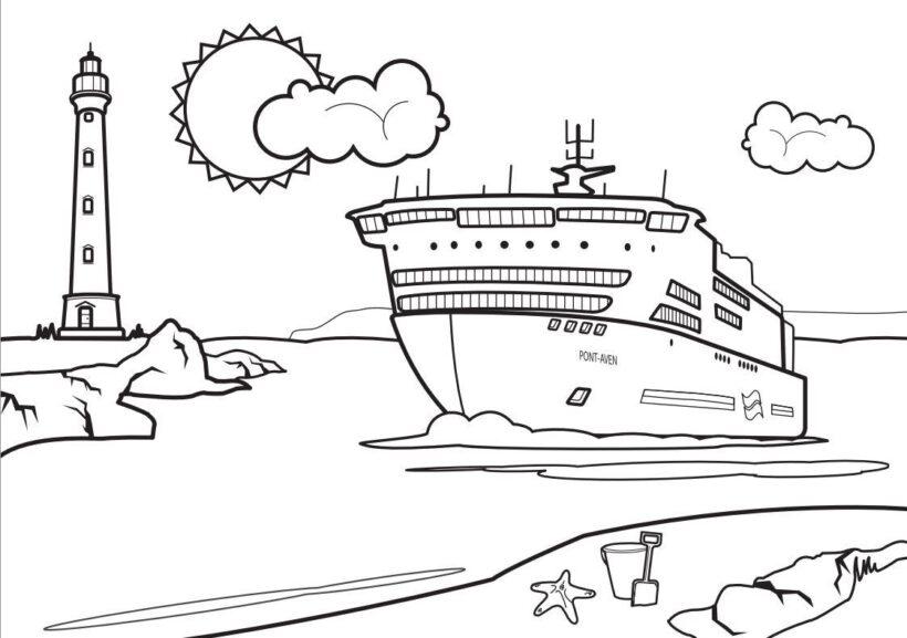 Hình tô màu tàu thuỷ (1)