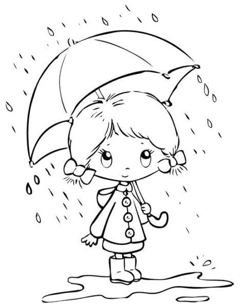Hình tô màu trời mưa đẹp nhất cho bé tập tô (1)