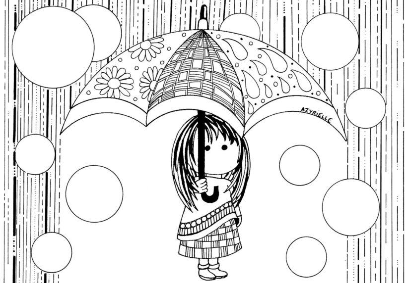 Hình tô màu trời mưa đẹp nhất cho bé tập tô (3)