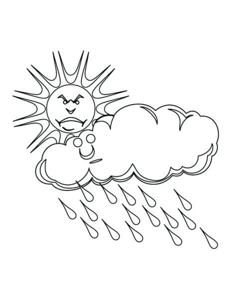 Hình tô màu trời mưa đẹp nhất cho bé tập tô (4)