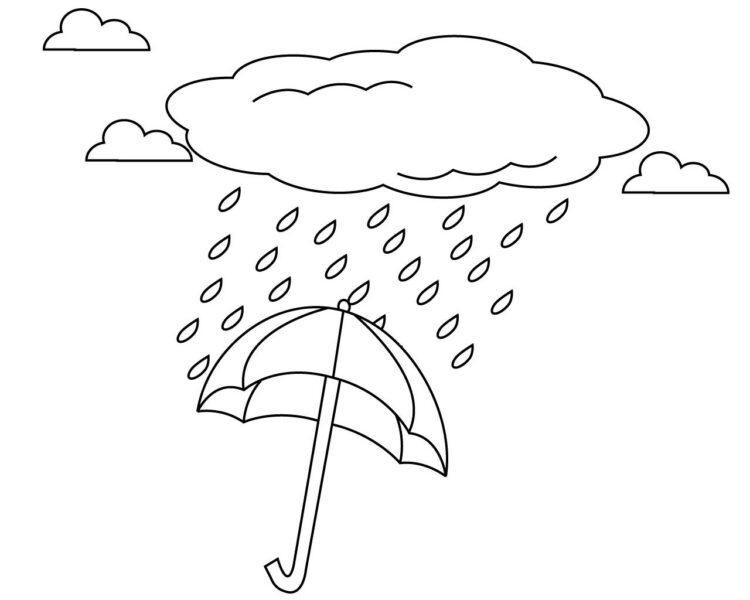 Hình tô màu trời mưa đẹp nhất cho bé tập tô (5)