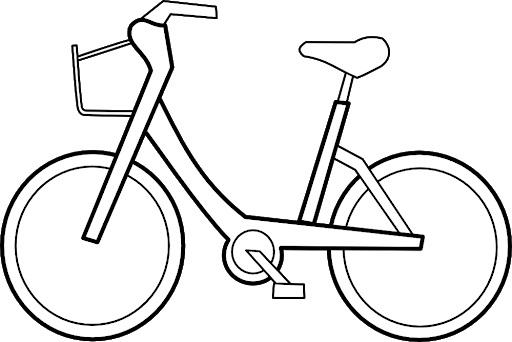 Hình tô màu xe đạp cho bé tập tô (15)