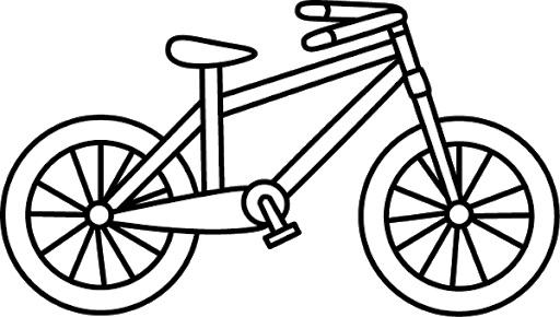 Hình tô màu xe đạp cho bé tập tô (16)