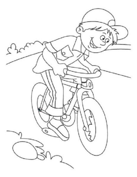 Hình tô màu xe đạp cho bé tập tô (17)