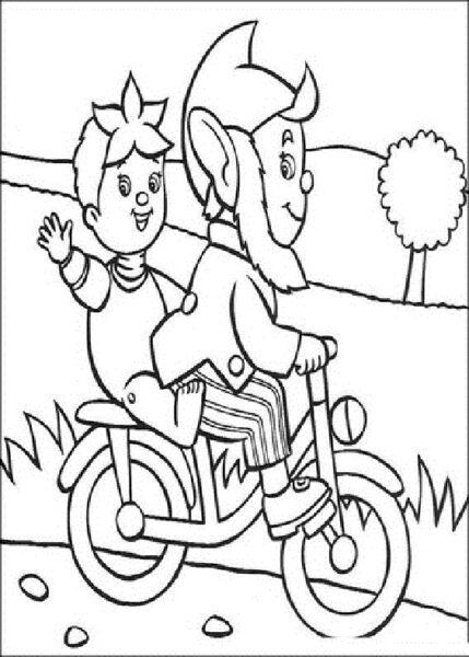 Hình tô màu xe đạp cho bé tập tô (18)