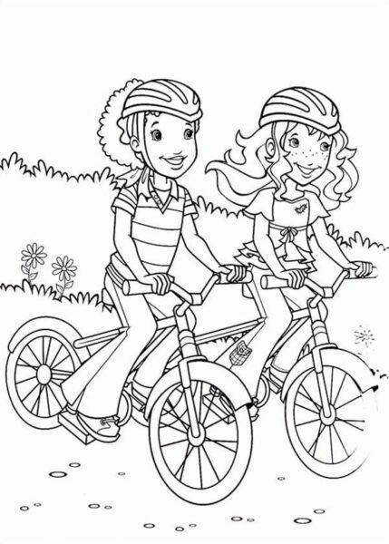 Hình tô màu xe đạp cho bé tập tô (19)