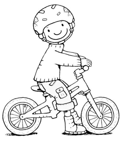 Hình tô màu xe đạp cho bé tập tô (20)