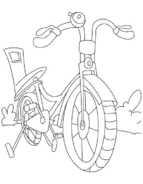 Hình tô màu xe đạp cho bé tập tô (21)