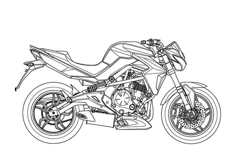 Hình tô màu xe máy cho bé tập tô (2)