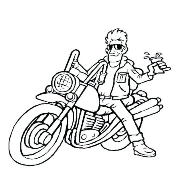 Hình tô màu xe máy cho bé tập tô (3)