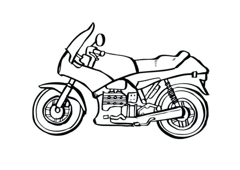 Hình tô màu xe máy cho bé tập tô (4)