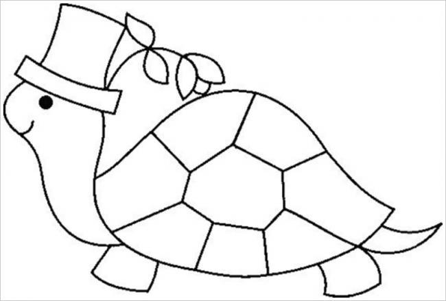 Hình tô mù con rùa cho bé tập tô (2)