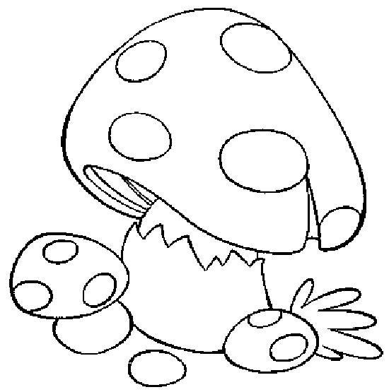 Hình vẽ cây nấm dễ thương