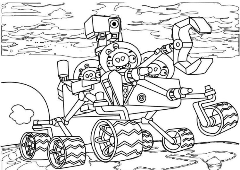 Hình vẽ chưa tô màu Angry Birds cho bé tập tô (6)