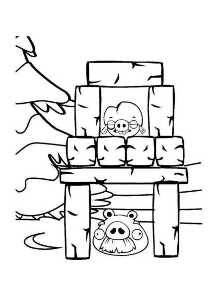 Hình vẽ chưa tô màu Angry Birds cho bé tập tô (7)