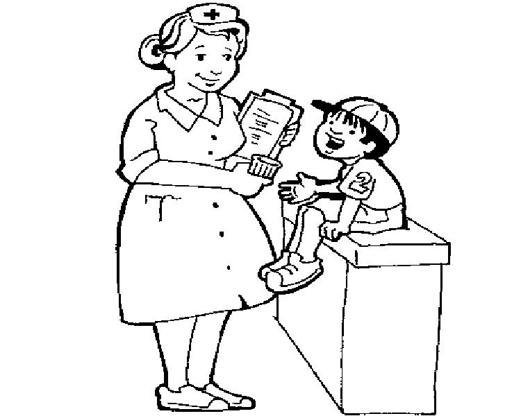 Hình vẽ chưa tô màu bác sĩ đẹp nhất cho bé tập tô (3)