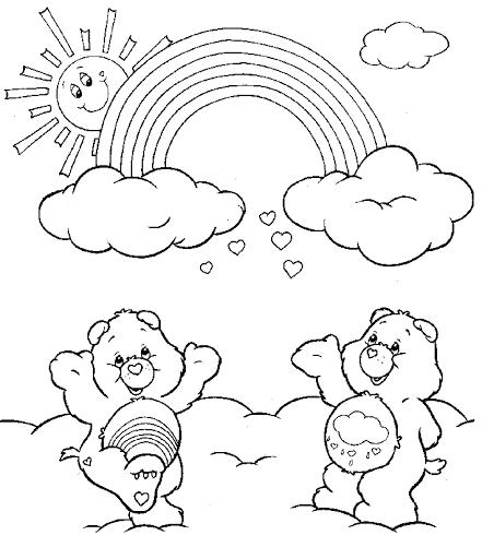 Hình vẽ chưa tô màu cầu vồng đáng yêu cho bé tập tô (1)