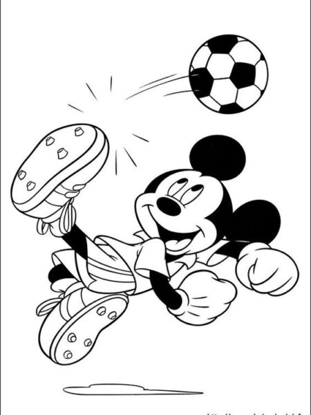Hình vẽ chưa tô màu chuột Mickey dễ thương cho bé tập tô (42)