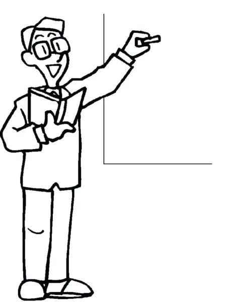 Hình vẽ chưa tô màu cô giáo và học sinh cho bé tập tô (3)