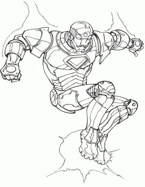 Hình vẽ chưa tô màu Iron Man ngầu nhất cho bé tập tô (4)