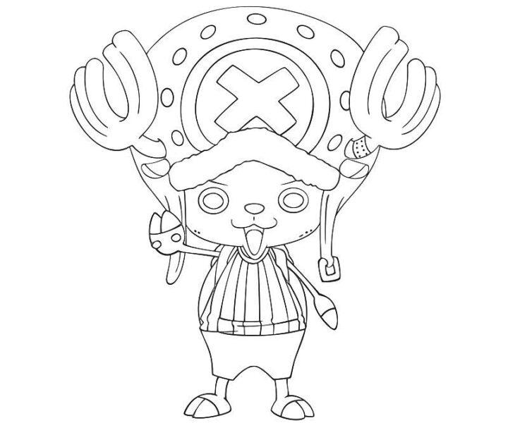 Hình vẽ chưa tô màu One Piece cho bé tập tô (1)