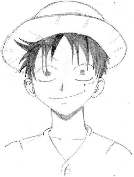 Hình vẽ chưa tô màu One Piece cho bé tập tô (3)