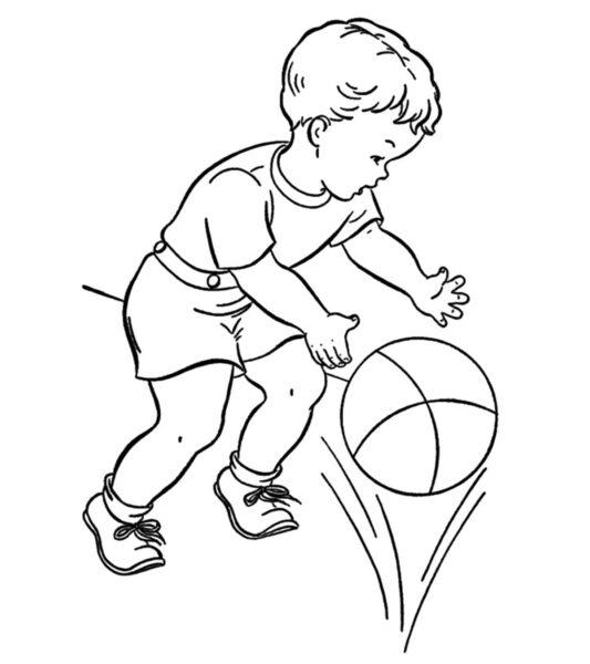 Hình vẽ chưa tô màu quả bóng cho bé tập tô (1)