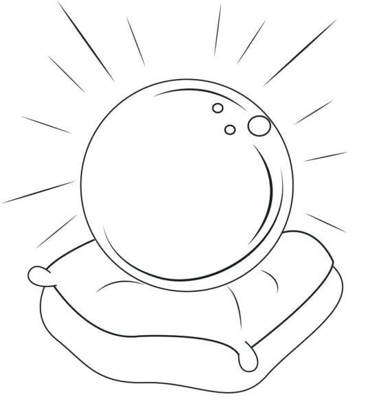 Hình vẽ chưa tô màu quả bóng cho bé tập tô (5)