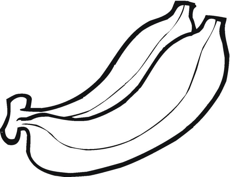 Hình vẽ chưa tô màu quả chuối ngộ nghĩnh cho bé tập tô (2)