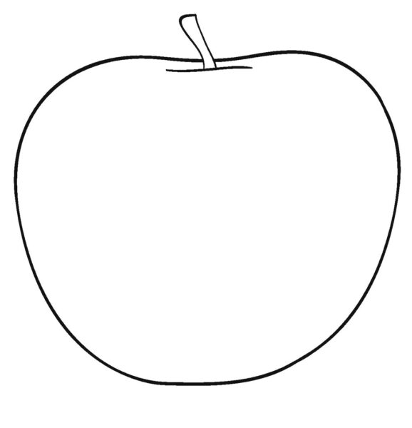 Tổng hợp các bức tranh tô màu quả táo đẹp nhất