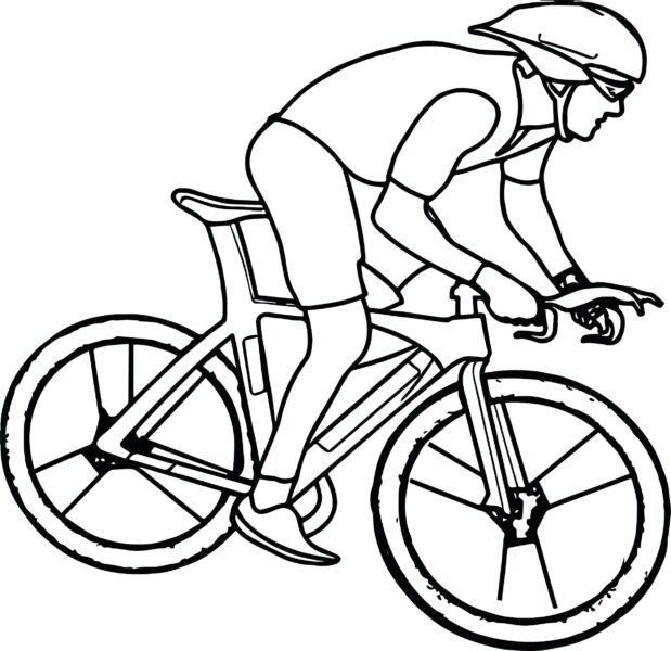 Hình vẽ chưa tô màu xe đạp cho bé tập tô (1)