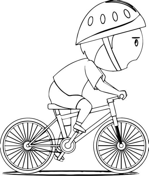 Hình vẽ chưa tô màu xe đạp cho bé tập tô (2)