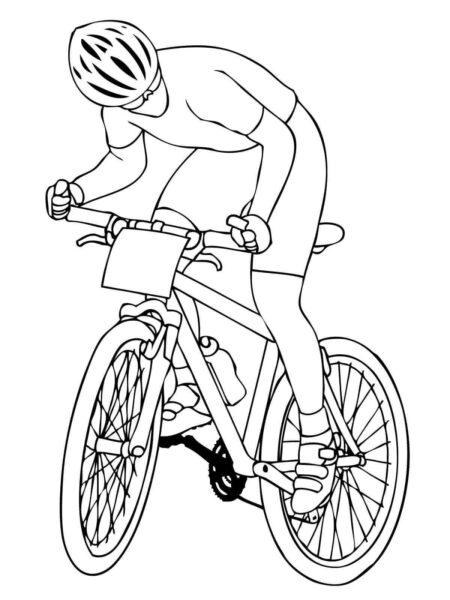 Tổng hợp các bức tranh tô màu xe đạp đẹp nhất d