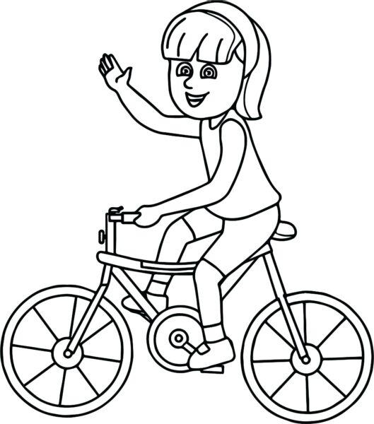 Hình vẽ chưa tô màu xe đạp cho bé tập tô (6)
