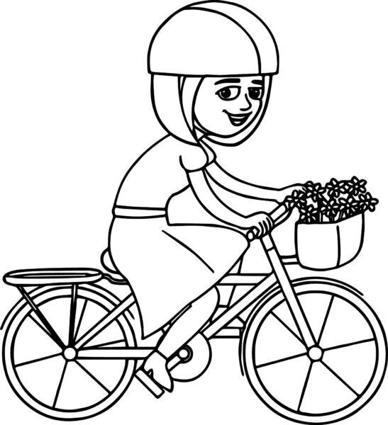 Hình vẽ chưa tô màu xe đạp cho bé tập tô (7)