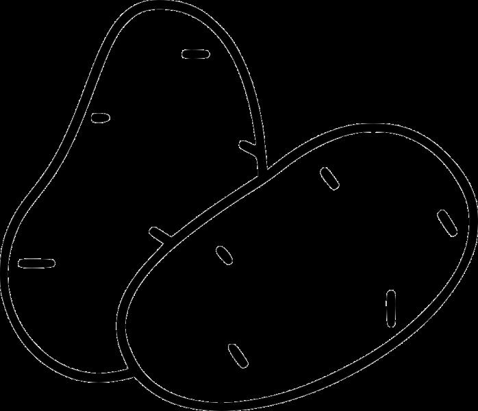 Hình vẽ đen trắng củ khoai lang cho bé tập tô (4)
