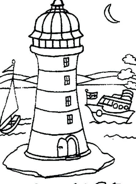 Hình vẽ đen trắng phong cảnh biển cho bé tô màu (7)