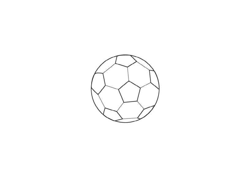 Hình vẽ đen trắng quả bóng cho bé tập tô (1)