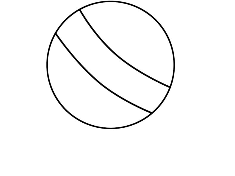 Hình vẽ đen trắng quả bóng cho bé tập tô (2)